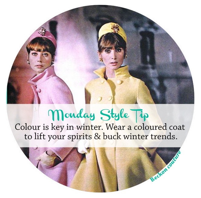 Monday Style Tip coloured coat