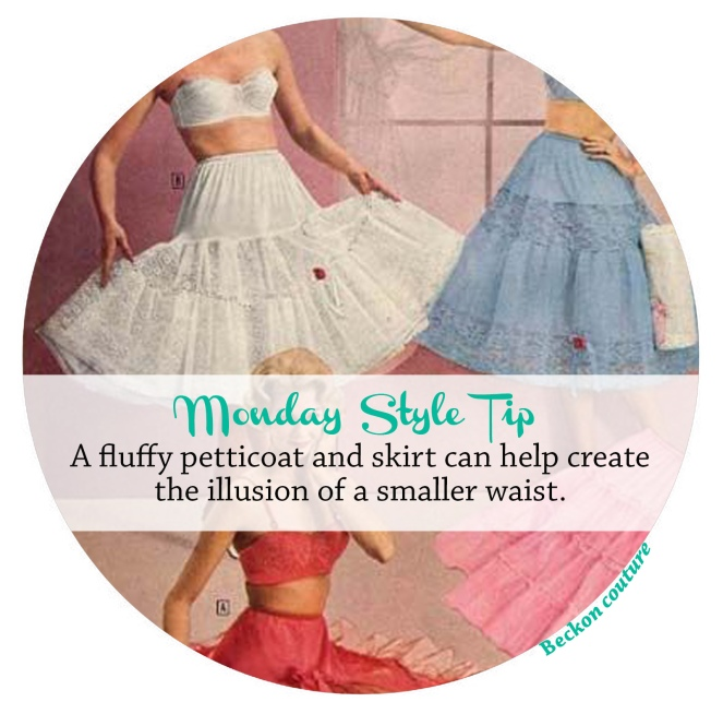 Monday Style Tip petticoat