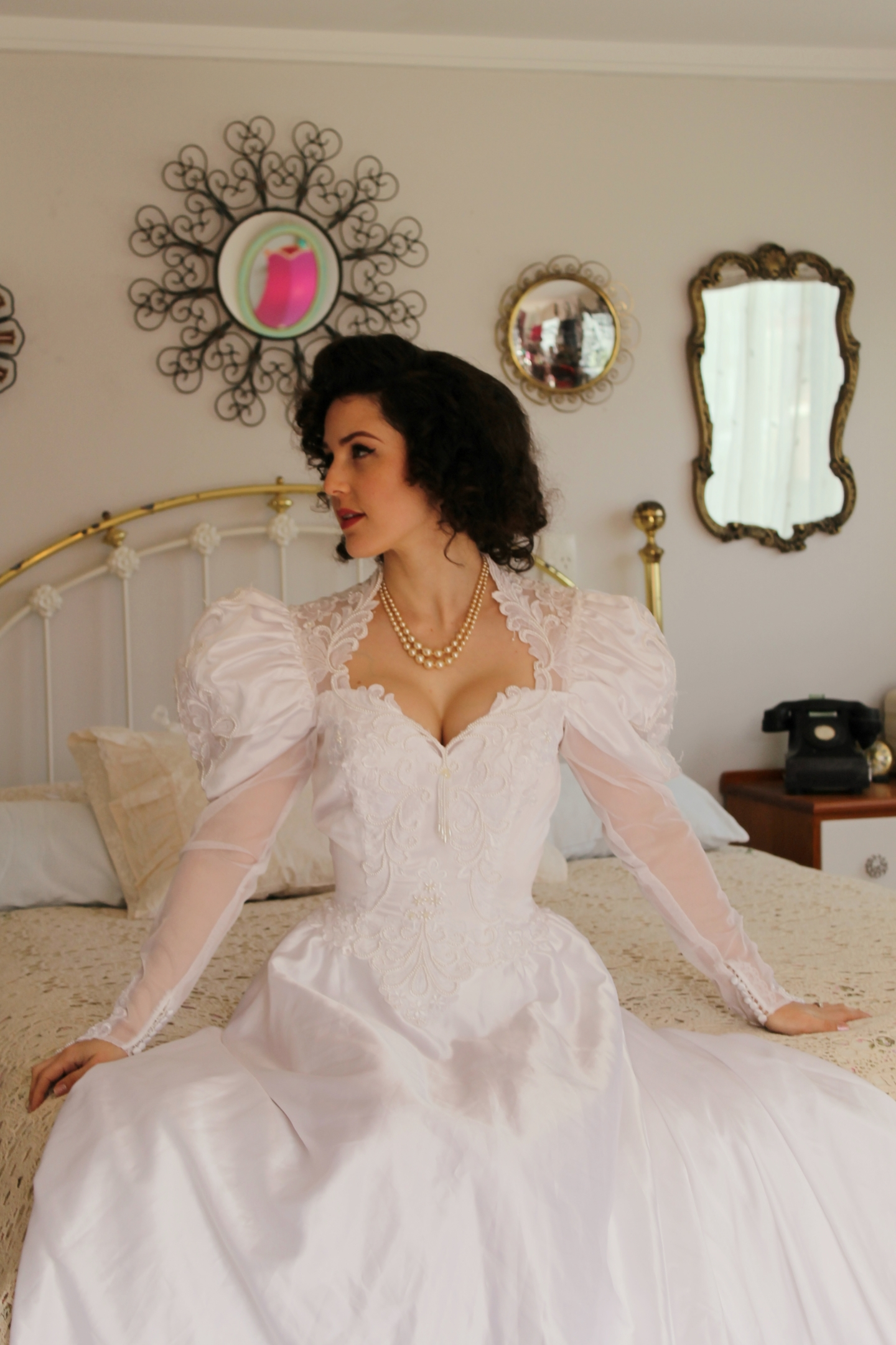 retro 1980's wedding dress | Velvet Decollete