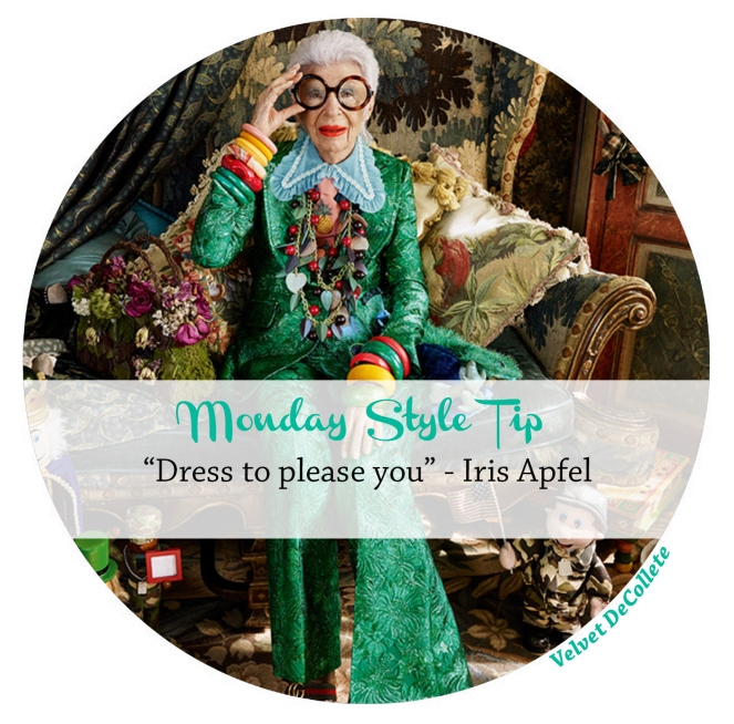 Iris Apfel dress to please you | Monday Style Tip