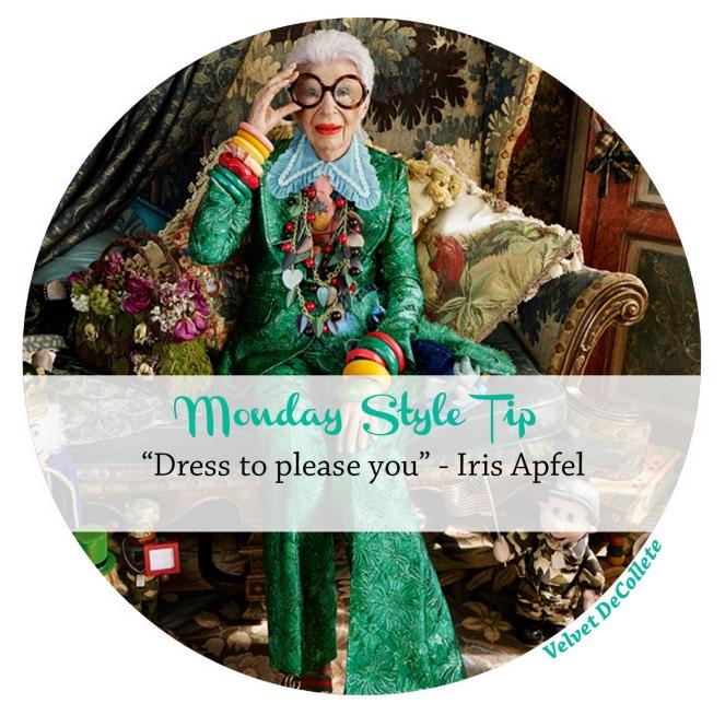 Iris Apfel dress to please you | Monday Style Tip