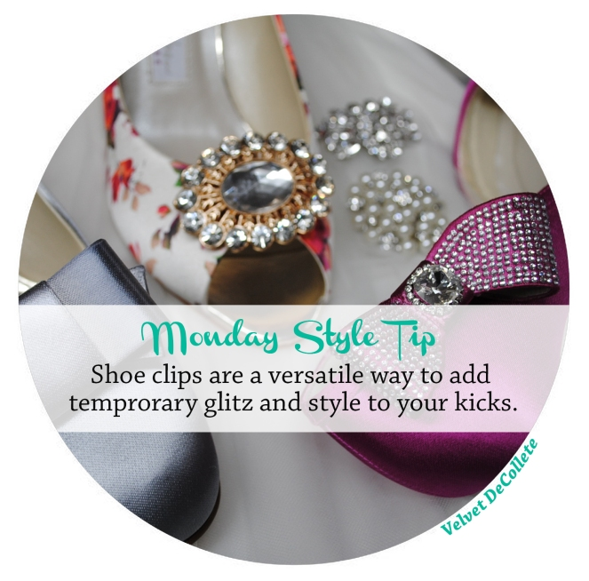 Shoe clips add versatile glamour | Monday Style Tip
