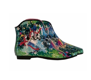 tropical-print-gumboots | Velvet Decollete