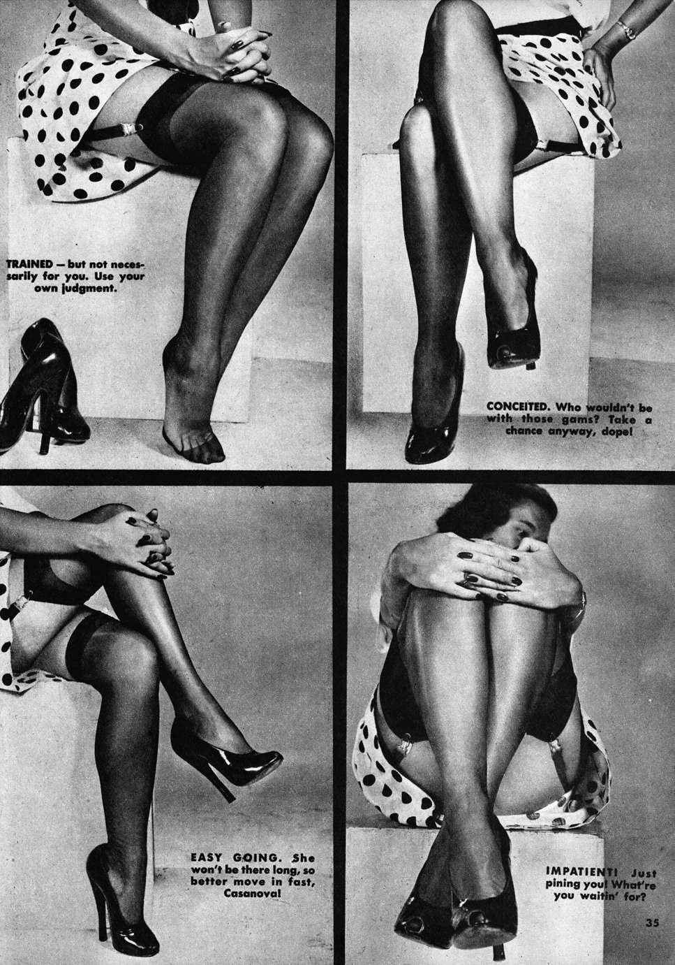 Beauty Parade January 1950 ladies legs | Velvet DeCollete