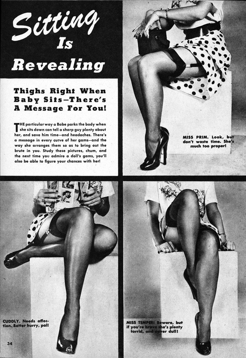 Beauty Parade January 1950 ladies legs | Velvet DeCollete